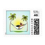 Yorkie Island Princess Off-Leash Art™ Stamp