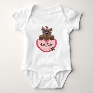 Yorkie Little Sister Baby Bodysuit
