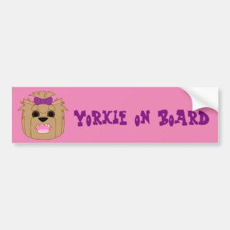 Yorkie Love Bumper Sticker