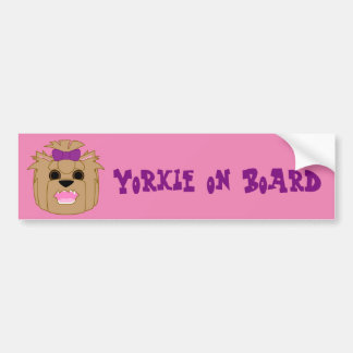 Yorkie Love Car Bumper Sticker