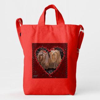 Yorkie Love Duck Bag
