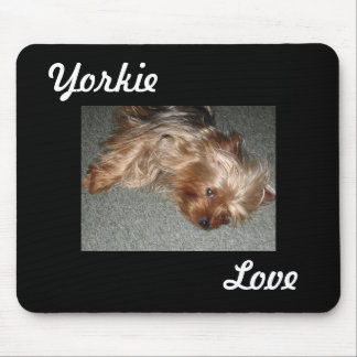 yorkie love mouse pad