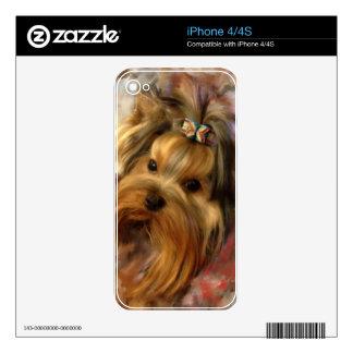 Yorkie Love iPhone 4S Decals