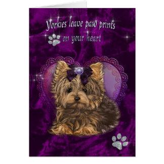 Yorkie Love You Card