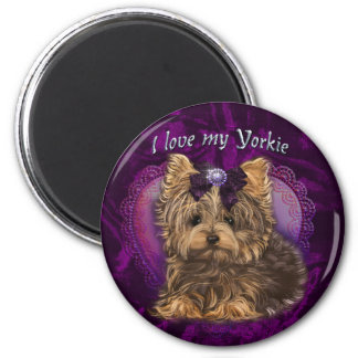 Yorkie Love You Magnet
