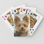 """Yorkie luck playing cards<br><div class=""""desc"""">My favorite yorkie.</div>"""