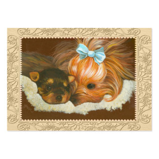 Yorkie Mama Puppy Business Card