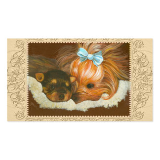 Yorkie Mama Puppy Business Card Templates