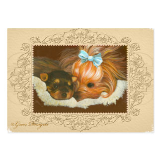 Yorkie Mama Puppy Painting Business Cards