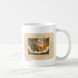 Yorkie Mama & Puppy Portrait Coffee Mug