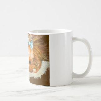 Yorkie Mama with Puppy Classic White Coffee Mug