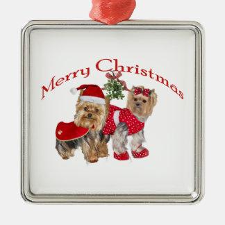 Yorkie Merry Christmas Christmas Ornaments