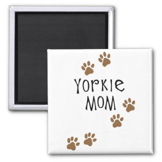 Yorkie Mom 2 Inch Square Magnet