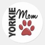 Yorkie Mom 2 Sticker