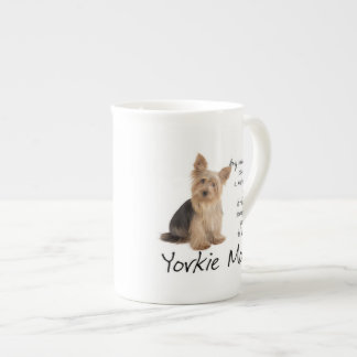 Yorkie Mom Bone China Mug