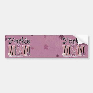 Yorkie MOM Bumper Stickers