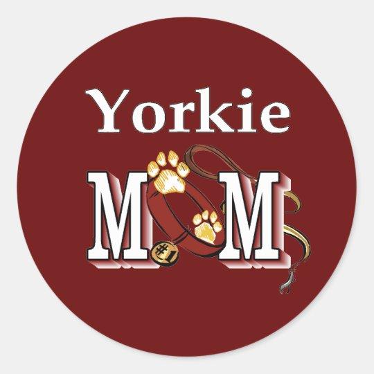 Yorkie Mom Gifts Classic Round Sticker