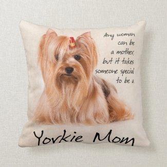 Yorkie Mom Pillow