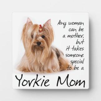 Yorkie Mom Plaque