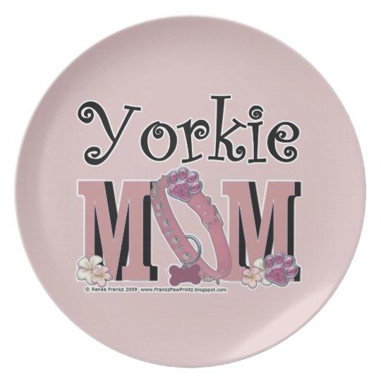 Yorkie MOM Plate