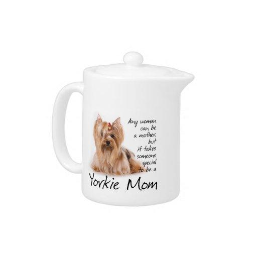 Yorkie Mom Teapot