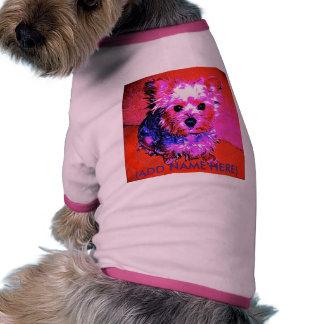 Yorkie nombra la camiseta del perro de la hembra camisetas de perro