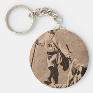 Yorkie of the mountain key chains