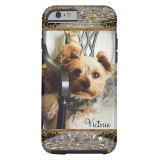 Yorkie on a bench or Insert Your Own Photo Custom Tough iPhone 6 Case