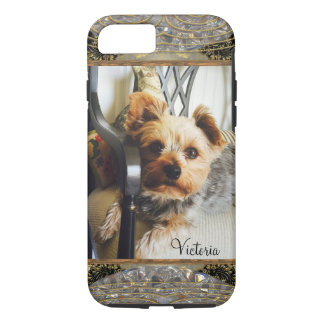 Yorkie on a bench or Insert Your Own Photo iPhone 8/7 Case
