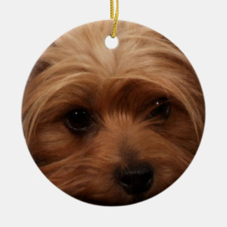 Yorkie or Your Dog Picture Ceramic Ornament