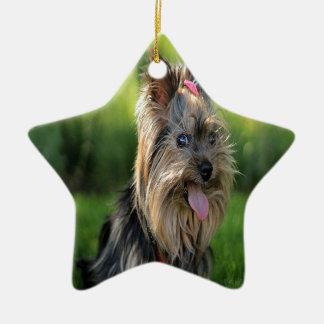Yorkie Christmas Tree Ornaments