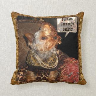 Yorkie Party Night Pillow