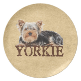 Yorkie Party Plate