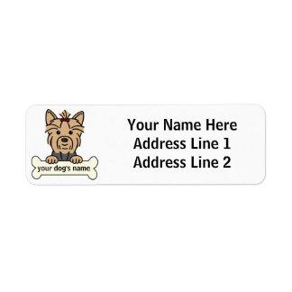 Yorkie personalizado etiqueta de remitente