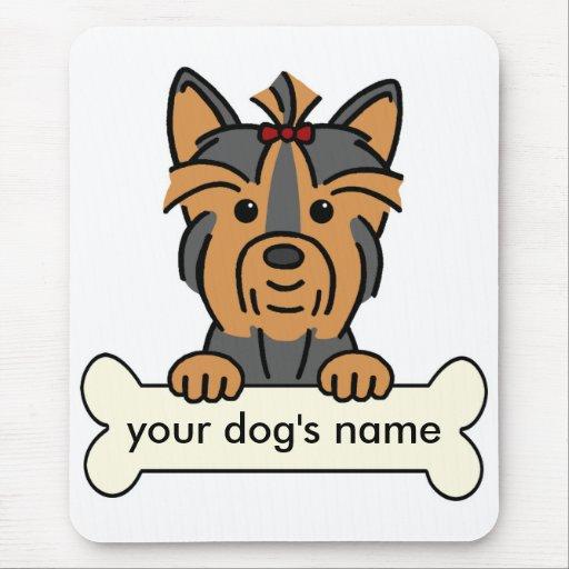 Yorkie personalizado mousepads
