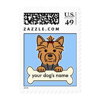 Yorkie personalizado sello