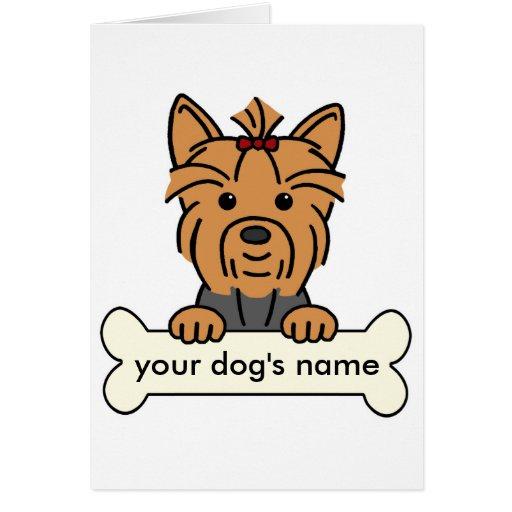 Yorkie personalizado tarjeta de felicitación