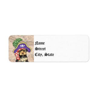 Yorkie Pirate Label