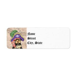 Yorkie Pirate Return Address Label