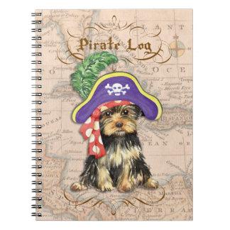 Yorkie Pirate Spiral Notebook