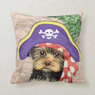 Yorkie Pirate Throw Pillows