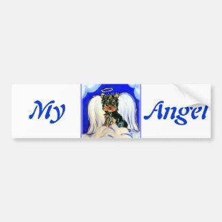 Yorkie Poo Angel Car Bumper Sticker
