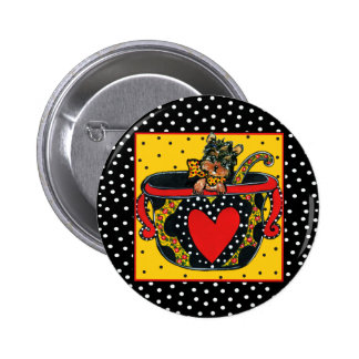Yorkie Poo Pinback Buttons