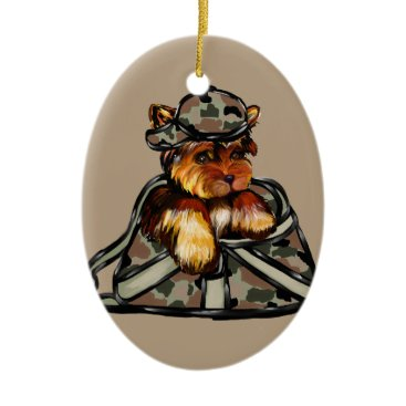 YORKIE POO CERAMIC ORNAMENT