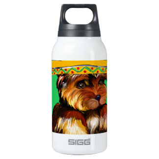 YORKIE POO CINCO DE MAYO 10 OZ INSULATED SIGG THERMOS WATER BOTTLE