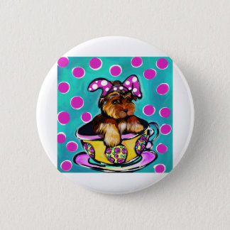 Yorkie Poo Easter Pinback Button