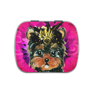 YORKIE POO JELLY BELLY TINS