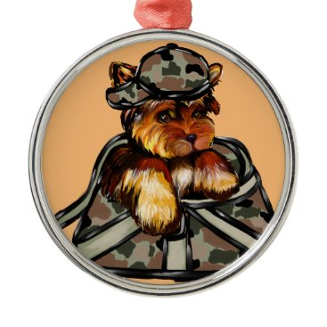 YORKIE POO METAL ORNAMENT