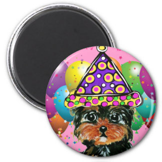 Yorkie Poo Party Dog Magnet