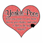 Yorkie Poo Paw Prints Dog Humor Cut Out